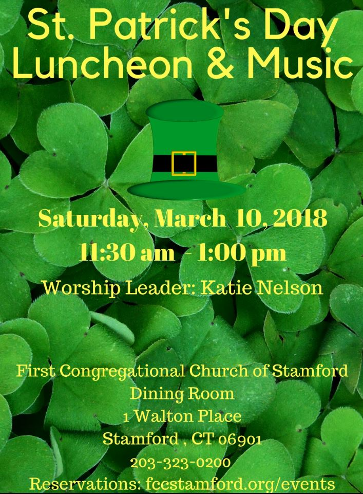 St. Patrick's Day Luncheon & Music @ First Congregational Church Dining Room | Stamford | Connecticut | United States