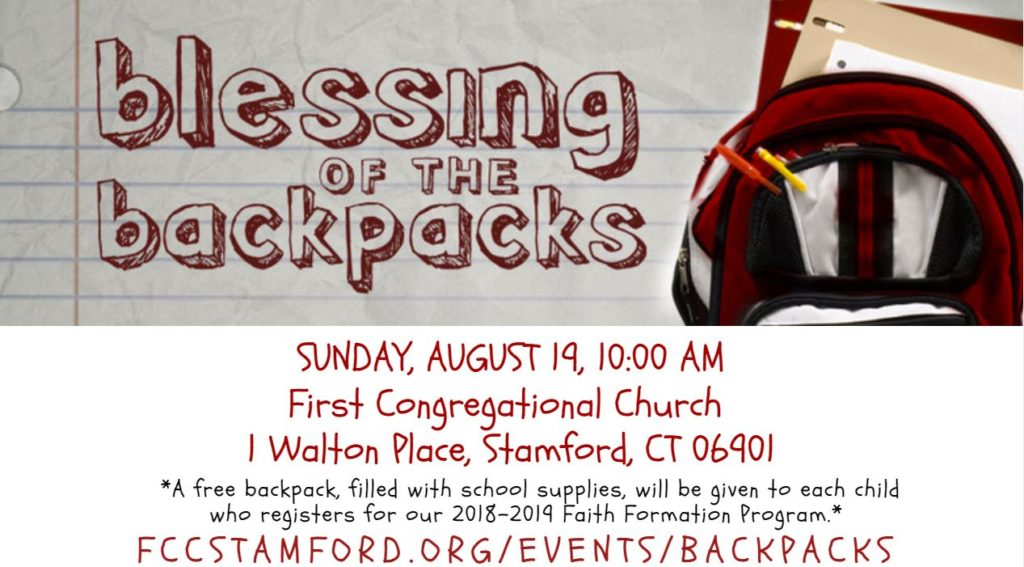 Blessing of the Backpacks @ Chapel | Stamford | Connecticut | United States