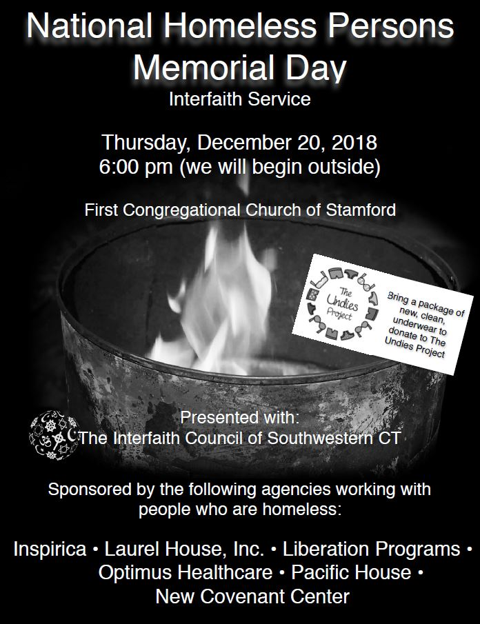 Homeless Memorial Interfaith Service @ First Congregational Church | Stamford | Connecticut | United States