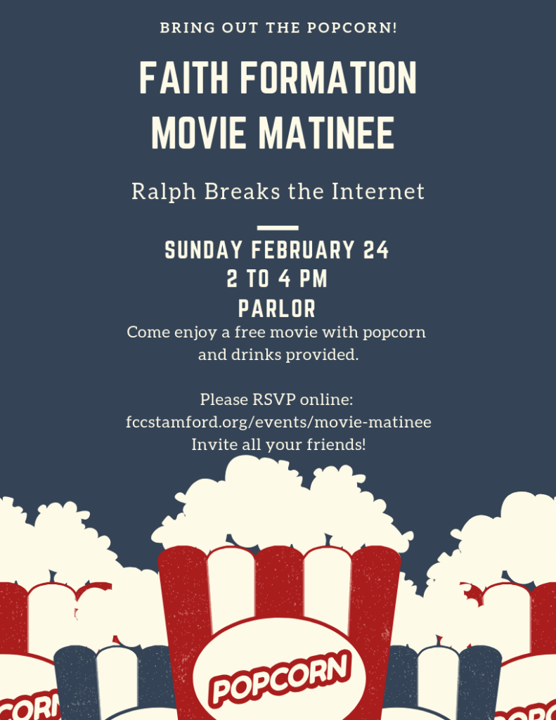 Faith Formation Movie Matinee @ Parlor | Normal | Illinois | United States