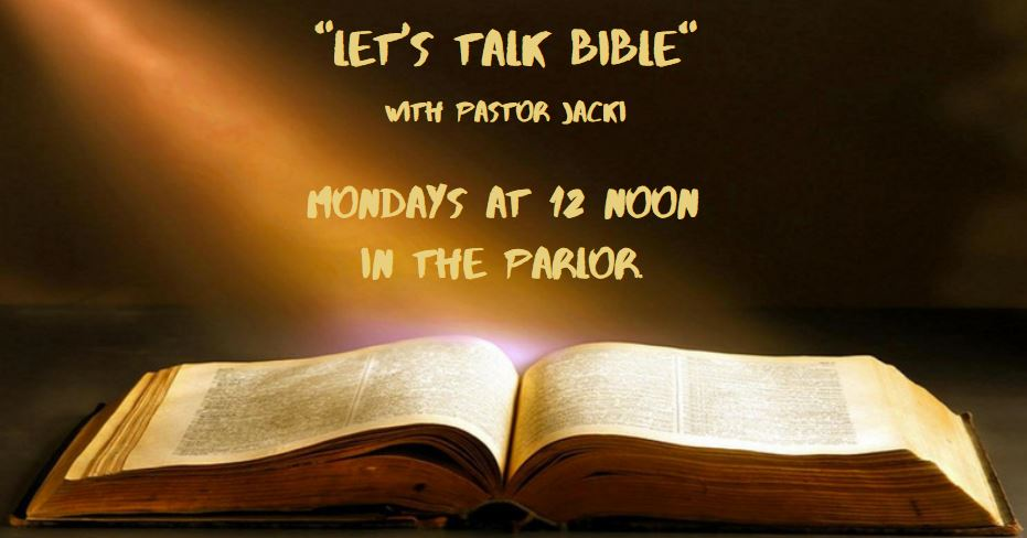 Let's Talk Bible with Pastor Jacki @ First Congregational Church Parlor | Stamford | Connecticut | United States