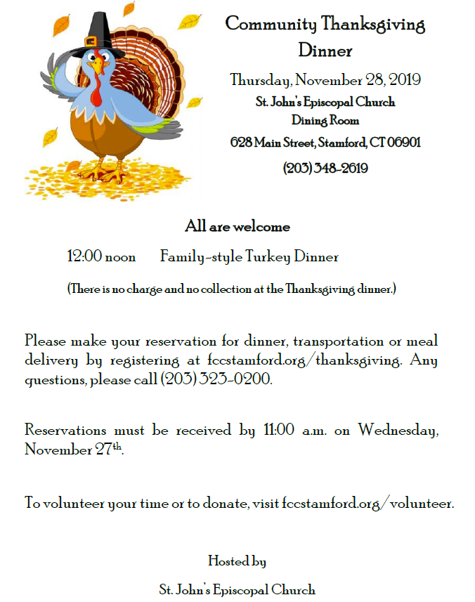 Thanksgiving Dinner @ St. John's Episcopal Church | Stamford | Connecticut | United States