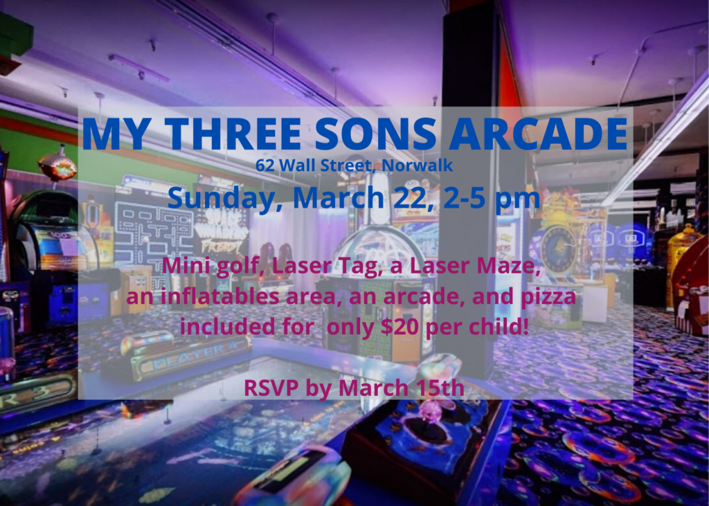 My Three Sons Faith Formation Outing @ My Three Sons Arcade | Norwalk | Connecticut | United States